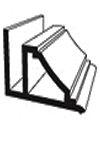 Потолочный плинтус для пластиковых панелей ПВХ 3м